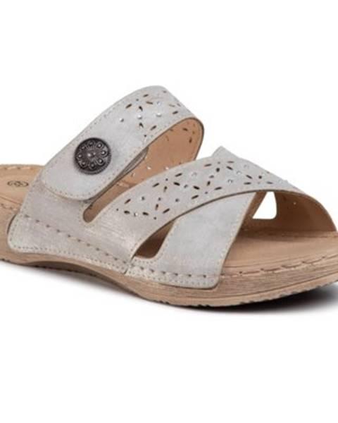 Sivé sandále Clara Barson