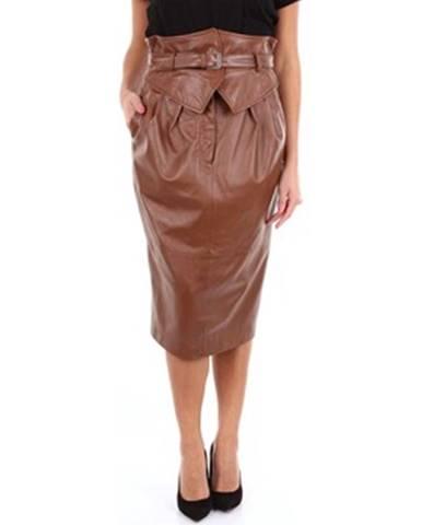 Hnedá sukňa Alberta Ferretti