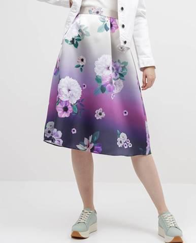 Fialová sukňa Dorothy Perkins