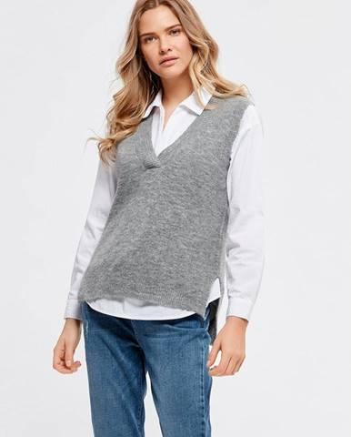 Sivá vesta M&Co
