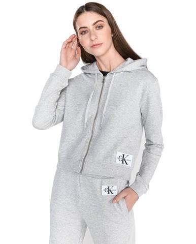 Sivá mikina s kapucňou Calvin Klein