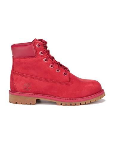 Červené členková obuv Timberland