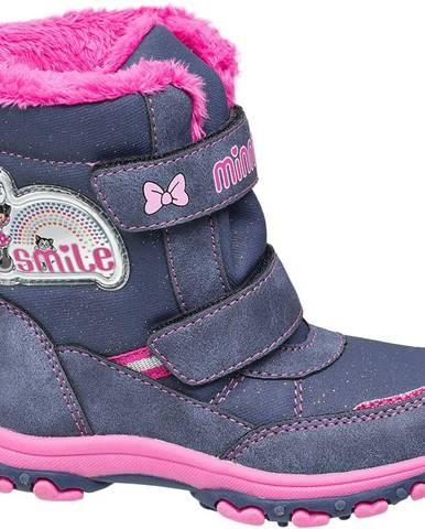 Modré členková obuv Minnie Mouse
