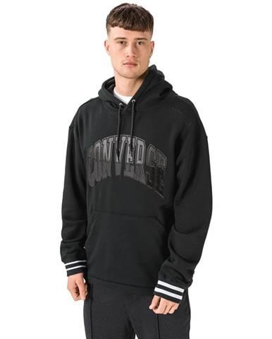 Čierna bunda s kapucňou Converse