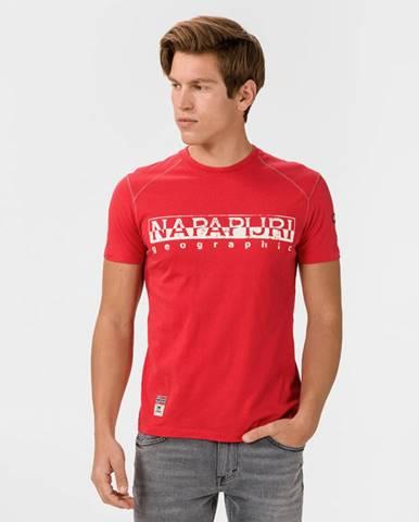 Červené tričko Napapijri