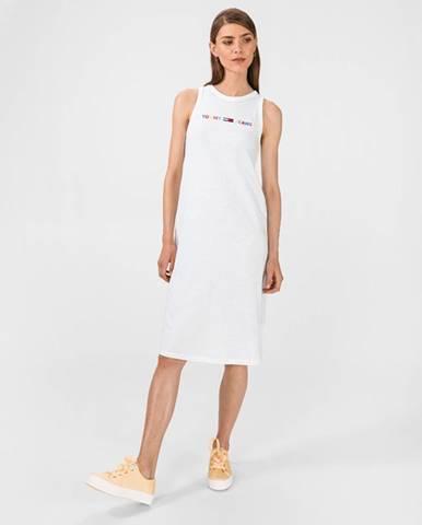 Biela sukňa Tommy Jeans