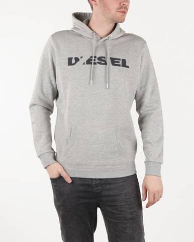 Sivá bunda s kapucňou Diesel