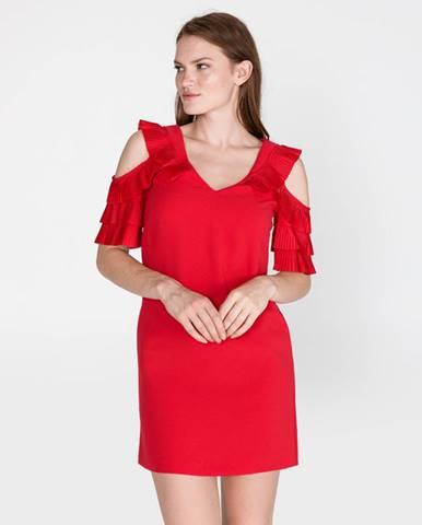 Červená sukňa Pinko