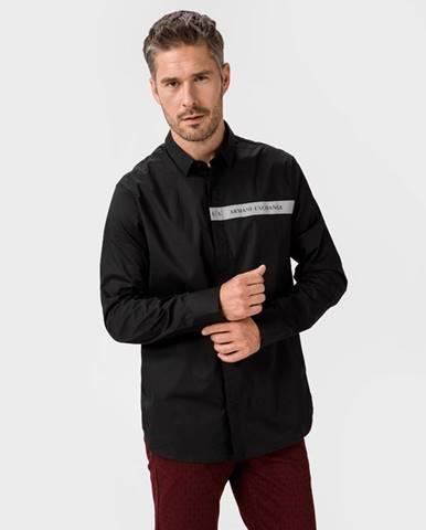 Čierna košeľa Armani Exchange
