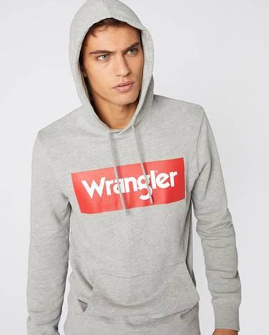 Sivá bunda s kapucňou Wrangler